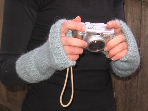 Alpaca Fingerless Mitts - made to order
