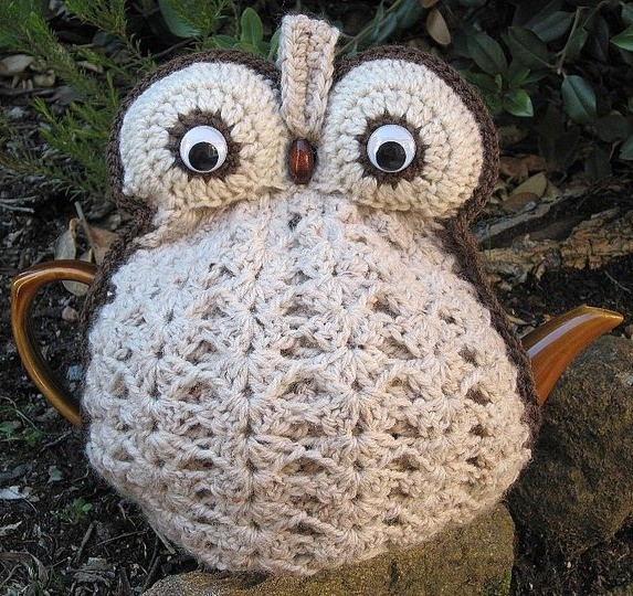 Crochet Owl Tea Cozy Made To Order In Your Choice Of Colour On Luulla