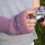 Alpaca Fingerless Mitts - made to o..