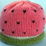 Watermelon Baby Hat - newborn - 24 months - custom and handmade to order for you