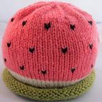 Watermelon Baby Hat - newborn - 24 ..