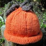 Pumpkin Hat - custom made to order ..