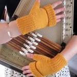 Fingerless Mitts mustard - custom and handmade for you