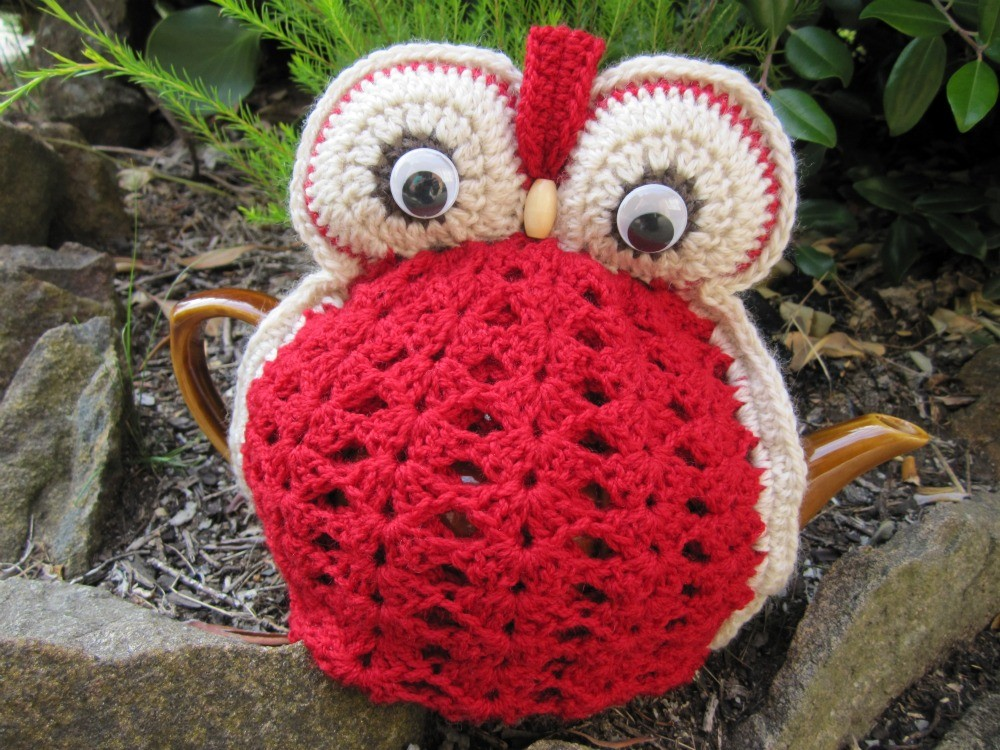 Owl Tea Cosy Red Made To Order On Luulla
